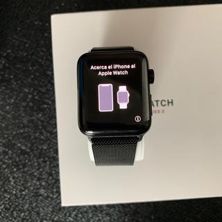 アップル(Apple)のApple Watch Series 3 42mm ミラネーゼ スペースグレイ(腕時計(デジタル))