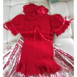 アンジェリックプリティー(Angelic Pretty)のアンジェリックプリティ サマーセーター(赤)(ニット/セーター)