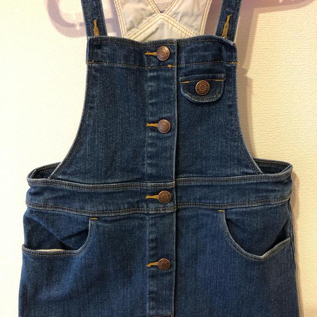 GU(ジーユー)のGU デニムサロペット スカート 130 キッズ/ベビー/マタニティのキッズ服 女の子用(90cm~)(スカート)の商品写真