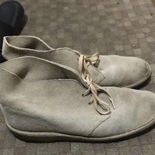 クラークス(Clarks)のクラークス デザートブーツ ベージュ スエード 27センチ程度(ブーツ)