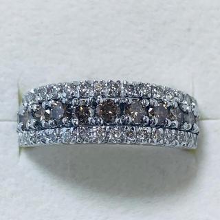 k18 ブラウンダイヤ&ダイヤモンド リング(リング(指輪))