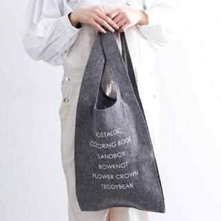 メルロー(merlot)の新品 未使用 merlot ロゴプリントトートバッグ エコバッグ(トートバッグ)