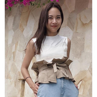 アメリヴィンテージ(Ameri VINTAGE)のアメリ♡コルセット付き♡Tシャツ(Tシャツ(半袖/袖なし))