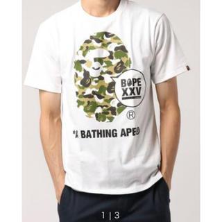 アベイシングエイプ(A BATHING APE)のBAPE store ZOZO BAPE XXV APE HEAD TEE M(Tシャツ/カットソー(半袖/袖なし))