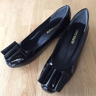 アルファキュービック(ALPHA CUBIC)のエナメルシューズ(レインシューズとしても)(レインブーツ/長靴)