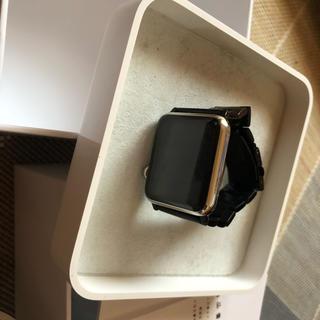 アップル(Apple)のapple watch 初代 42mm ステンレススチールケース(腕時計(デジタル))