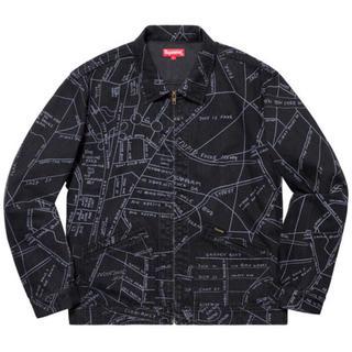 シュプリーム(Supreme)のSupreme Gonz Map Work Jacket Black Mサイズ(Gジャン/デニムジャケット)