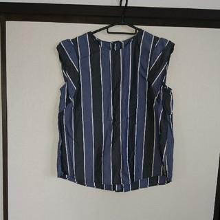 ジーユー(GU)のストライプ・ブラウス(シャツ/ブラウス(半袖/袖なし))