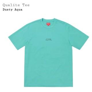 シュプリーム(Supreme)の19ss Supreme Qualite Tee DustyAqua S 送料込(Tシャツ/カットソー(半袖/袖なし))