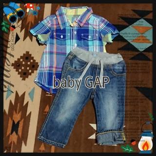 ベビーギャップ(babyGAP)の美品★baby GAP★シャツ&パンツset(その他)