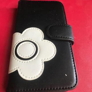 マリークワント(MARY QUANT)のマリークワントi phoneケース黒(iPhoneケース)