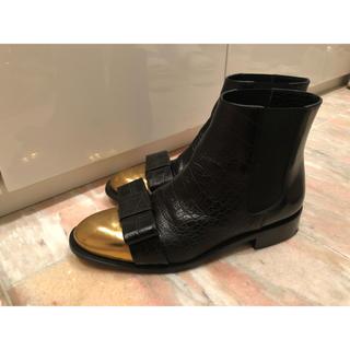 マルニ(Marni)のMARNI リボン ショートブーツ(ブーツ)