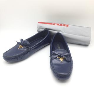プラダ(PRADA)の新品同様 プラダ PRADA ローファー 革靴 23.5 ドライビングシューズ(ローファー/革靴)