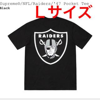 シュプリーム(Supreme)のLサイズ black raiders tシャツ supreme(Tシャツ/カットソー(半袖/袖なし))