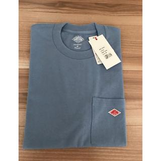 DANTON - ダントン ポケットTシャツ フェイドブルー サイズ38 新品 タグ付き