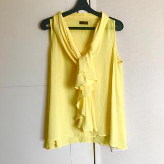 プロフィール(PROFILE)のkoko様専用 黄色 トップス 綺麗色 シフォン(シャツ/ブラウス(半袖/袖なし))