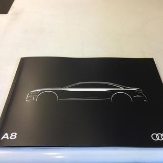 アウディ(AUDI)の【新品未使用】🇩🇪Audi アウディ A8 本 カタログ 非売品(カタログ/マニュアル)