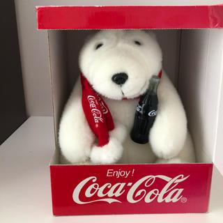 コカコーラ(コカ・コーラ)の【値下げしました】コカコーラ ぬいぐるみ しろくま ポーラーベア(ぬいぐるみ)