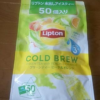 リプトン 水出し アイスティー グリーンティー ピーチオレンジ(茶)