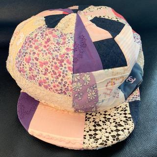 シャネル(CHANEL)のシャネル  帽子 パッチワーク(帽子)