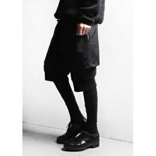 コムデギャルソン(COMME des GARCONS)の古着 レギンス付き レイヤードパンツ ブラック XL(サルエルパンツ)