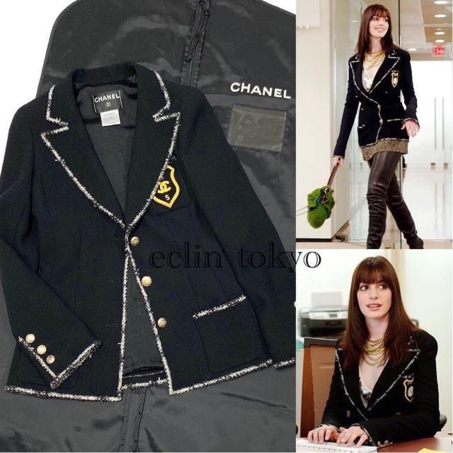 CHANEL(シャネル)のぶっちゃん様専用お取置品 シャネル エンブレム ジャケット ツイード E1417 レディースのジャケット/アウター(テーラードジャケット)の商品写真