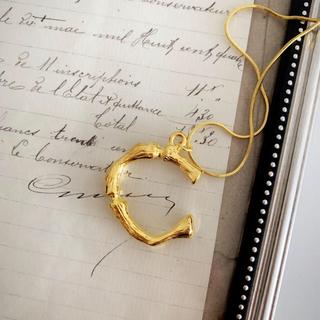 セリーヌ(celine)のイニシャルネックレス ゴールド C アルファベット(ネックレス)