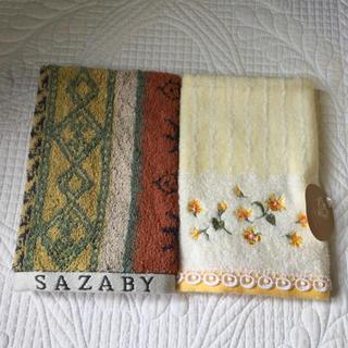 サザビー(SAZABY)の【SAZABY】ハンドタオル2枚(タオル/バス用品)