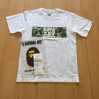 アベイシングエイプ(A BATHING APE)のbape xxv tee bape 25周年記念Tシャツ(Tシャツ/カットソー(半袖/袖なし))