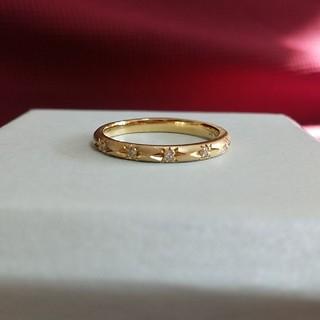 K10イエローゴールド ☆マットゴールド☆ ダイヤモンドリング(リング(指輪))
