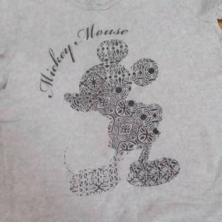 ディズニー(Disney)のミッキーマウス   BIGTシャツ   グレー    LL(Tシャツ(半袖/袖なし))