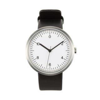 ムジルシリョウヒン(MUJI (無印良品))の未使用☺︎無印良品 腕時計 wall  clock シルバー レザー 黒 白(腕時計)