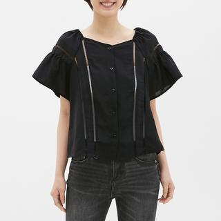 ジーユー(GU)のGU レースブラウス(シャツ/ブラウス(半袖/袖なし))