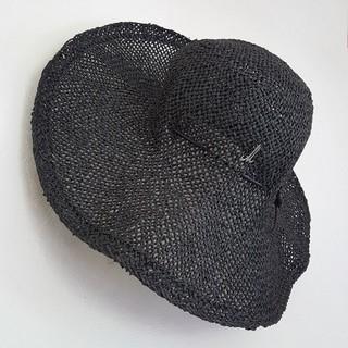 アッシュペーフランス(H.P.FRANCE)のミュールバウアー リゾートに♥エレガントなリボン付きストローハット(麦わら帽子/ストローハット)