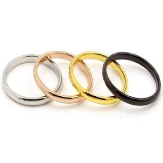298   サイズ充実 1号~ チタンステンレス ピンキーリング関節リング(リング(指輪))