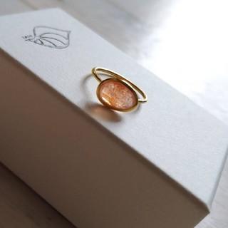 値下げ サンストーン ベゼルセッティングリング(リング(指輪))