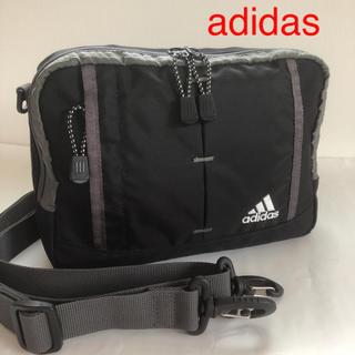 アディダス(adidas)のadidas ショルダーバッグ  黒 美品(ショルダーバッグ)