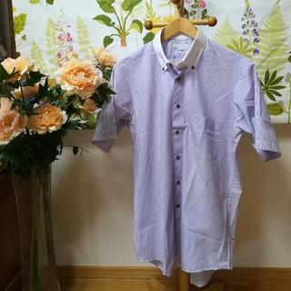 メイルアンドコー(MALE&Co.)の✨MALE&Co.(メイルアンドコー)紫色の半袖シャツLサイズ形状安定(シャツ)