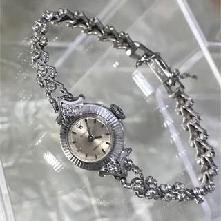 12b215842d ロレックス(ROLEX)のRolex ロレックス レディース アンティーク時計 14KWG ダイヤ 手巻き(腕時計