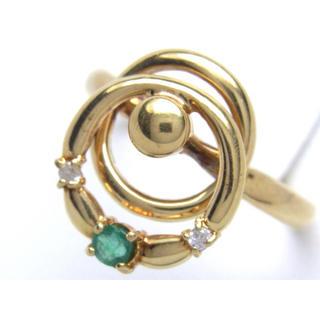 K18 エメラルド ダイヤモンド リング(リング(指輪))