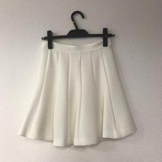 スタニングルアー(STUNNING LURE)の試着のみ スタニングルアー フレアスカート  ホワイト(ミニスカート)