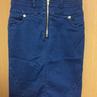 ムルーア(MURUA)のMURUA ZIP切替タイトスカート(ひざ丈スカート)