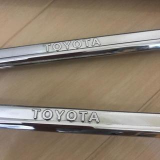 トヨタ - トヨタ ナンバーフレーム  シルバー カスタム セット 純正品 正規品 レア