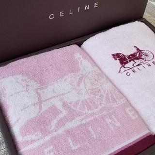 セリーヌ(celine)のセリーヌ CELINE  フェイスタオル   【新品】 ピンク(タオル/バス用品)