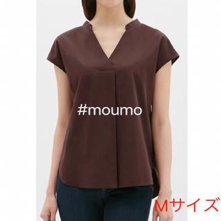 ジーユー(GU)のGU レディース スキッパーシャツ ダークブラウン(シャツ/ブラウス(半袖/袖なし))