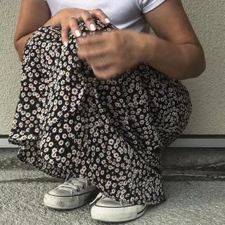 ザラ(ZARA)の花柄スカート フラワーラップスカート(ロングスカート)