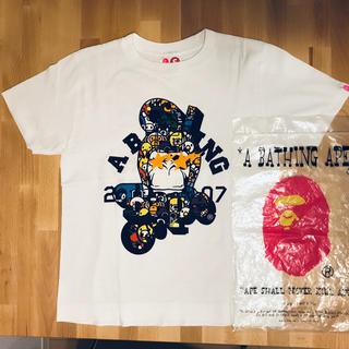 アベイシングエイプ(A BATHING APE)のTシャツ エイプ レディース Sサイズ(Tシャツ(半袖/袖なし))