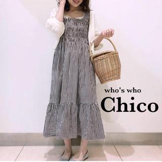 フーズフーチコ(who's who Chico)のギンガムチェックワンピース(ひざ丈ワンピース)