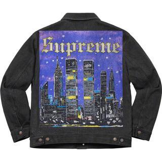 シュプリーム(Supreme)の値下げ! Supreme New York Trucker Jacket 黒 M(Gジャン/デニムジャケット)