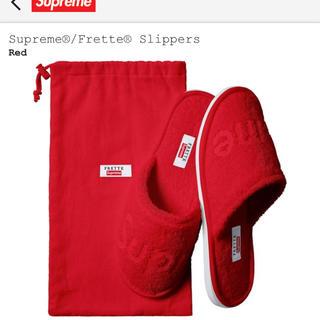シュプリーム(Supreme)のSupreme Frette  Slippers スリッパ レッド (スリッパ/ルームシューズ)